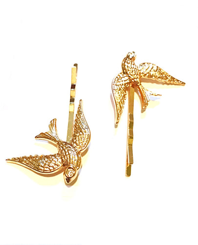 Golden Love Birds Hairpin 2 per set