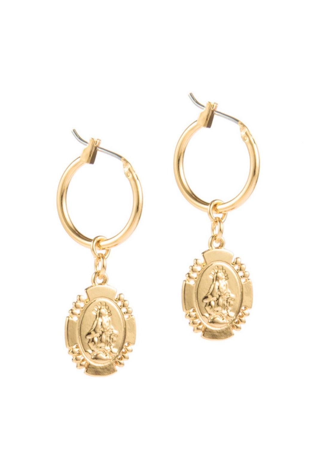 Ave Maria Imprint Earrings
