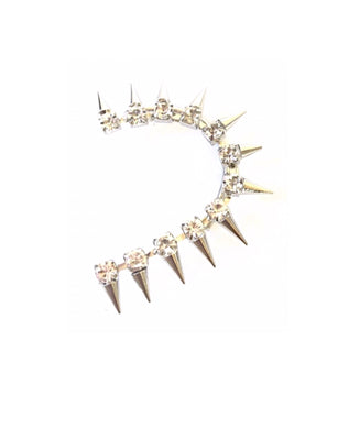 Silver Spiked Ear Cuff