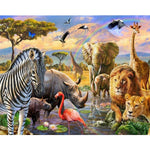 Kenyan wildlife (40x50cm|16x20inch) | DIY oil Paint by Number - Bambuce