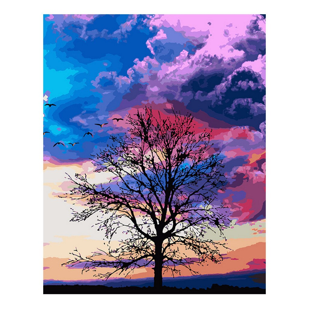 Winter tree (40x50cm|16x20inch) | DIY Acrylic Paint by Number - Bambuce