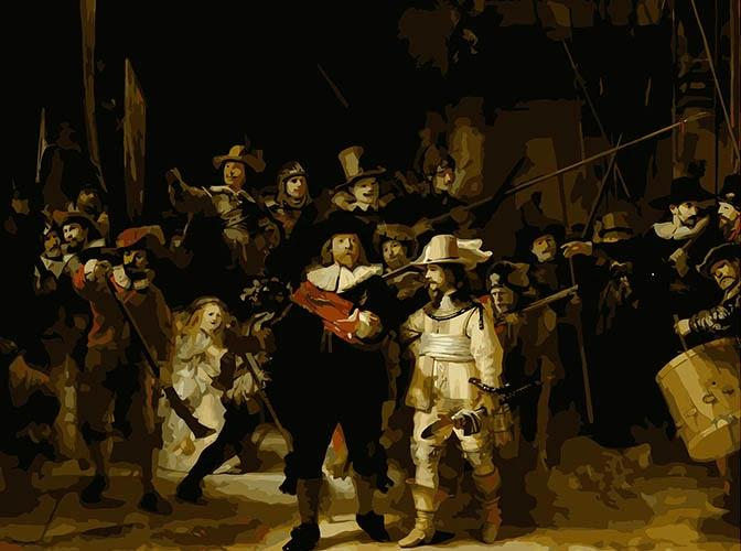 Rembrandt van Rijn | The Night Watch | DIY Paint by Numbers - Bambuce