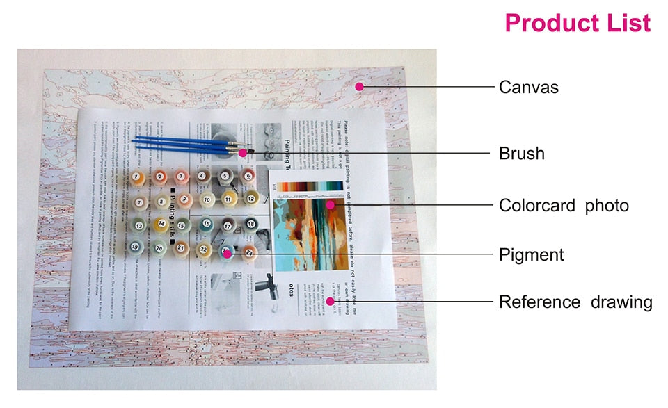 Modern Woman | DIY paint by numbers (40x50 No frame) - Bambuce