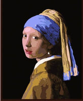 Johannes Vermeer | Girl with a Pearl Earring | DIY Oil Paint by Numbers (40x50 No frame)