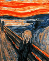 Edvard Munch | The Scream | DIY Oil Paint by Numbers