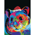 Colorful christmas animal (40x50cm|16x20inch) | DIY oil Paint by Number - Bambuce