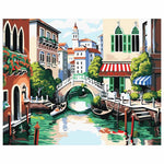 Inside Venice (30x40cm|12x16inch) | Shipped in box mounted on canvas | DIY Acrylic Paint by Number | usps landscape (G) - Bambuce