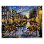 Bridge over Amsterdam canal (40x50cm|16x20inch) | DIY Acrylic Paint by Number - Bambuce