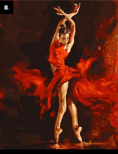 Flamenco dancer | DIY Oil Paint by Numbers - Bambuce