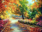 DIY Oil Painting Paint by Numbers Colorful Autumn (40x50cm) - Bambuce