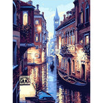 Venice Night Landscape Painting by Numbers (40x50cm) - Bambuce