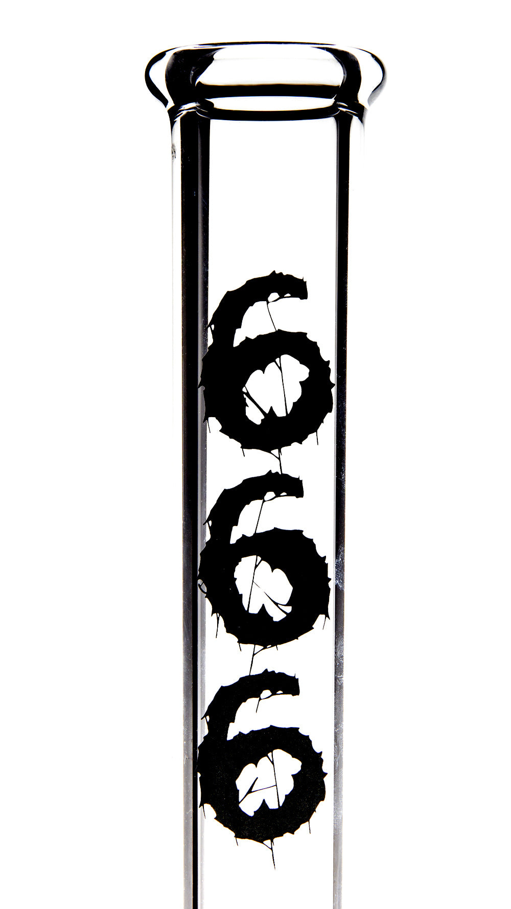 16'' '666' STRAIGHT TUBE [Clear][7mm]