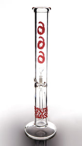 "RED OR BLACK 666 16"" 45mm Straight Tube-Clear"
