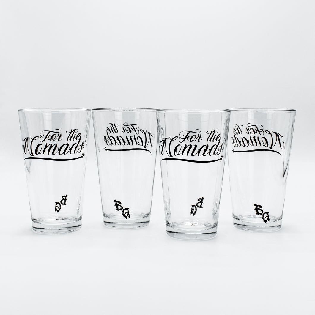 FOR THE NOMADS Offical 16 oz. Pint Glass 4 PACK