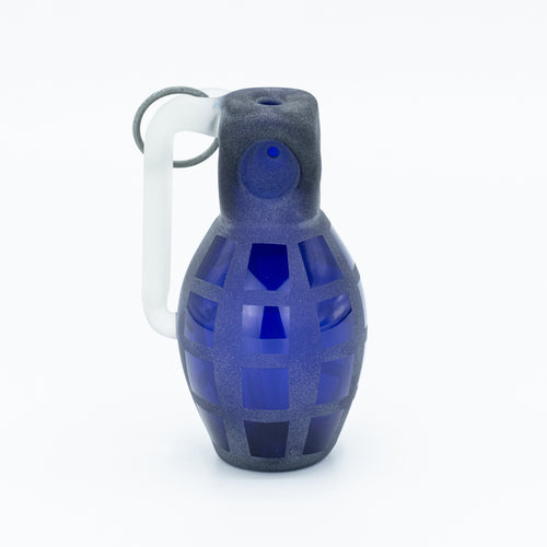 Starfish Glass Designs Grenade Spoon [Blue]