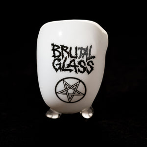 BRUTAL GANDALF PENTAGRAM by Starfish Glass [Black or White]