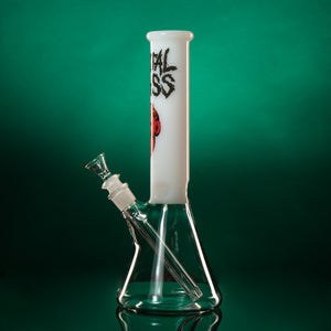 "ZOMBIE 12.5"" 45mm Beaker - White or Black top"