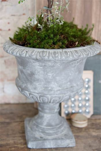 Flower pot, vintage warm Grey
