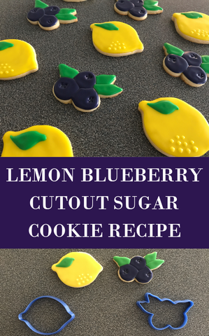 Lemon Blueberry Cutout Sugar Cookie Recipe and Icing