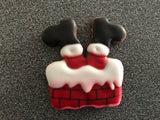 Santa in Chimney Cookie Cutter