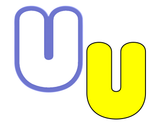 Chubby Uppercase U Cookie Cutter