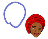 African Head Wrap Cookie Cutter