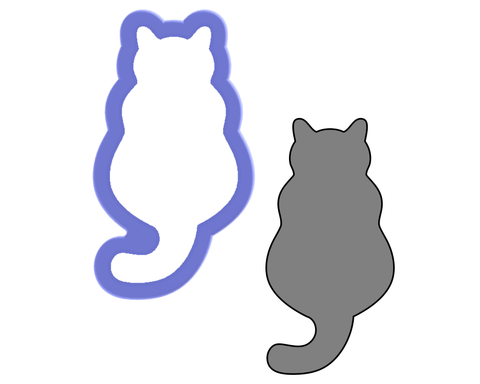 Back of Cat Cookie Cutter