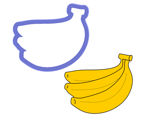Banana Bunch Cookie Cutter