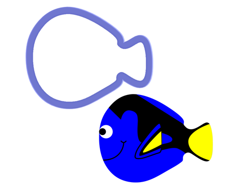 Blue Tang Cookie Cutter