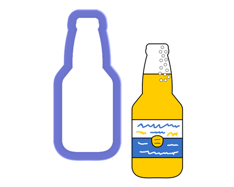 Bottle - Glass, Soda, Beer - Cookie Cutter