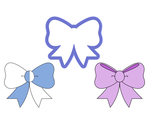 Bow #1- Cheer Bow Cookie Cutter