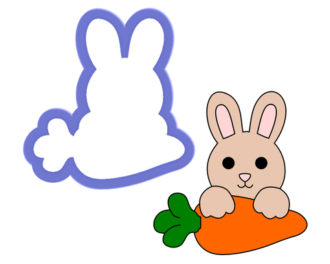 Bunny with Carrot Cookie Cutter
