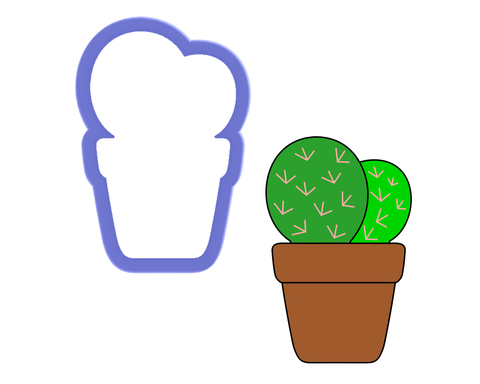 Cactus in Pot #2 Cookie Cutter