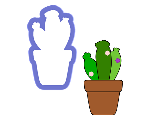 Cactus in Pot #3 Cookie Cutter
