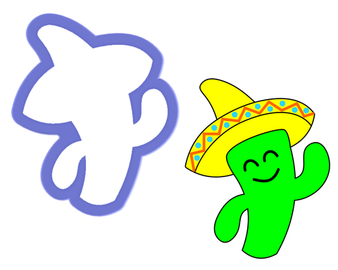 Cactus with Sombrero Cookie Cutter
