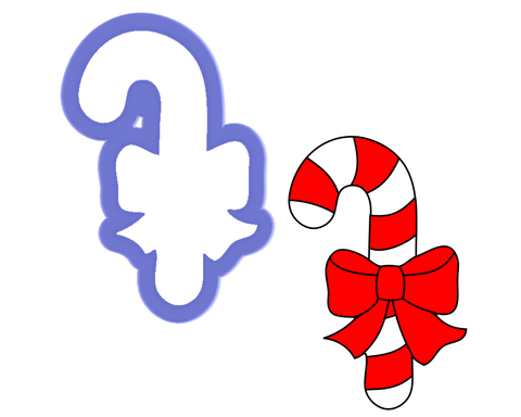 Candy Cane with Bow Cookie Cutter
