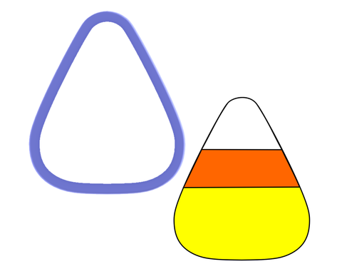 Candy Corn Cookie Cutter