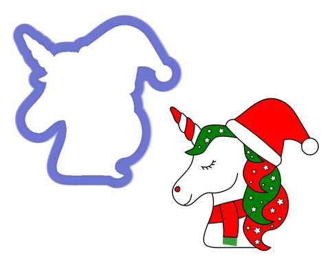 Christmas Unicorn Cookie Cutter