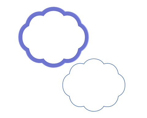 Cloud #1 Cookie Cutter