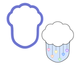 Cloud with Rain Cookie Cutter