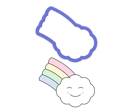 Cloud with Rainbow Cookie Cutter