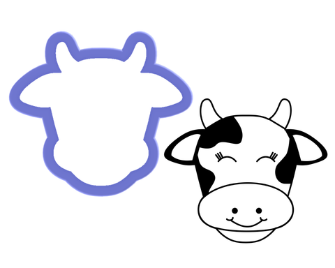 Cow Face #1 Cookie Cutter