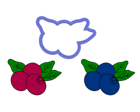 Cranberries - Blueberries - Holly Berry - Cookie Cutter