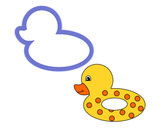 Duck Pool Floatie Cookie Cutter