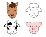 Farm Animal Faces Cookie Cutter Set