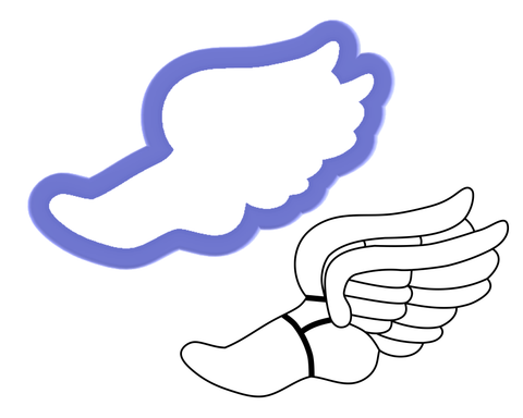 Foot With Wings Cookie Cutter