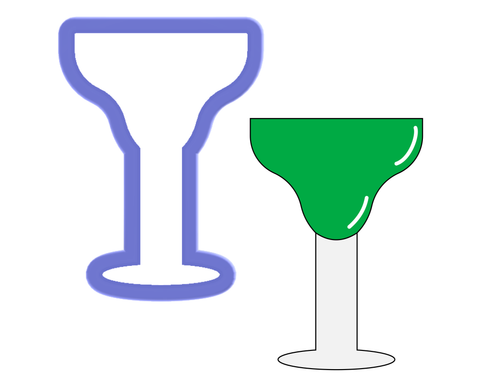 Glass - Margarita Glass - Cookie Cutter
