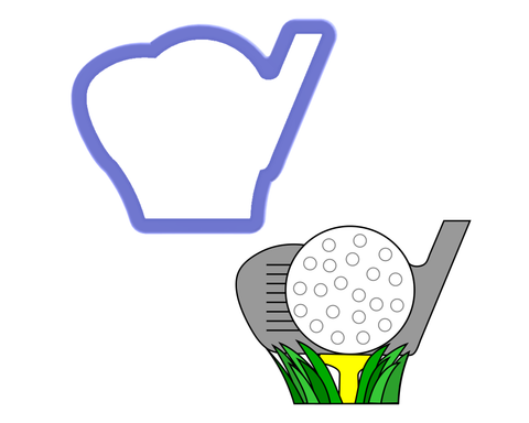 Golf Club and Ball Cookie Cutter