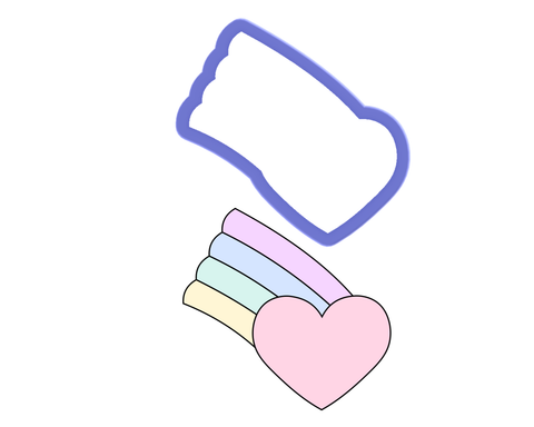 Heart with Rainbow Cookie Cutter