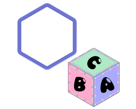 Hexagon - Cube - ABC Block - D20 Dice - Cookie Cutter